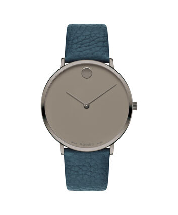 MOVADO Movado Modern 470607332 – 40 mm Modern 47 on Textured Strap - Front view