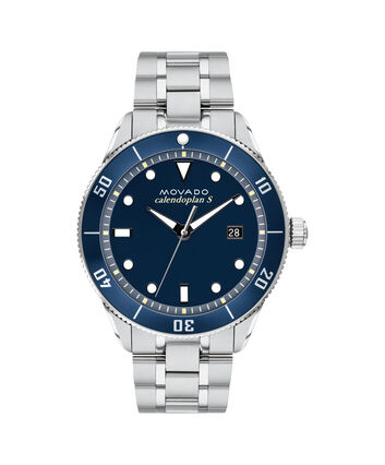 MOVADO Heritage Series3650094 – 43mm Heritage Series Calendoplan S Diver on Bracelet - Front view