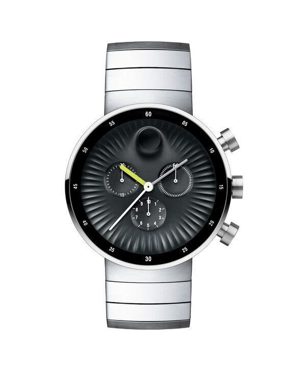 Movado | Movado Edge men's large stainless steel watch with black aluminum dial