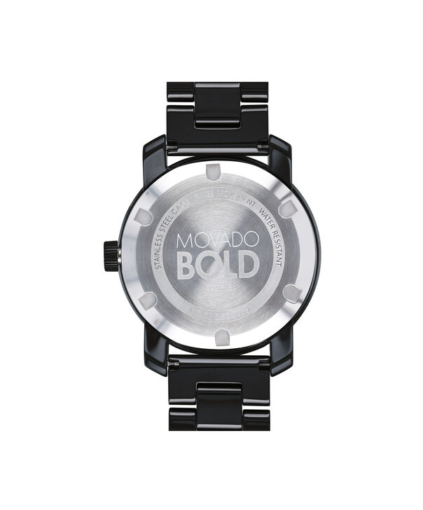 MOVADO Movado BOLD3600535 – 36 mm ceramic bracelet watch - Back view