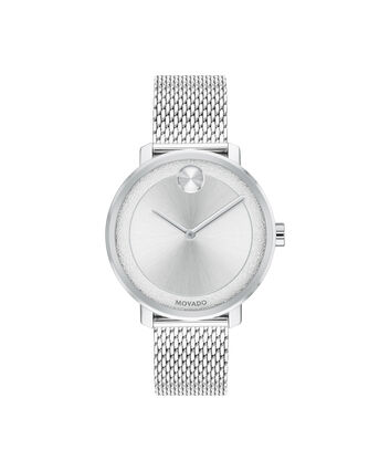 MOVADO BOLD3600579 – 34 mm stainless steel bracelet watch - Front view