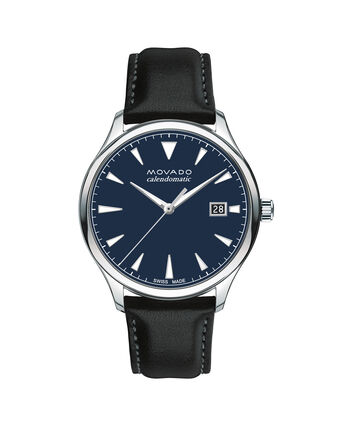 MOVADO Movado Heritage Series3650054 – Men's 40 mm strap watch - Front view