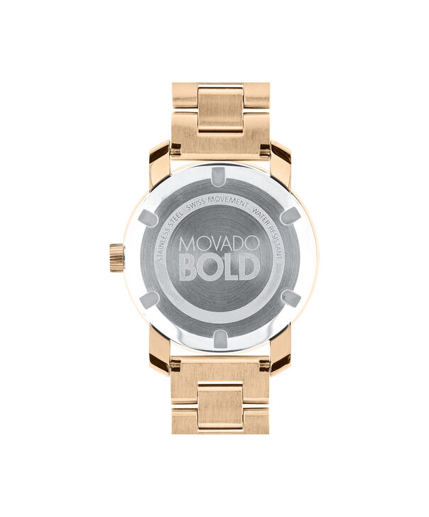 MOVADO Movado BOLD3600086 – 36 mm Metals bracelet watch - Back view