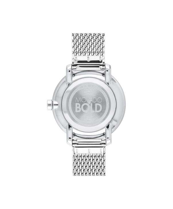 MOVADO Movado BOLD3600579 – 34 mm stainless steel bracelet watch - Back view