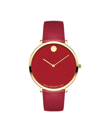 MOVADO Bauhaus Limited Edition0607142 – Mid-Size 35 mm strap watch - Front view