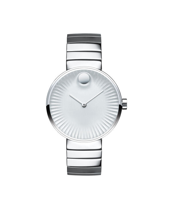 Movado | Movado Edge wommen's mid-size stainless steel watch with silver-toned dial