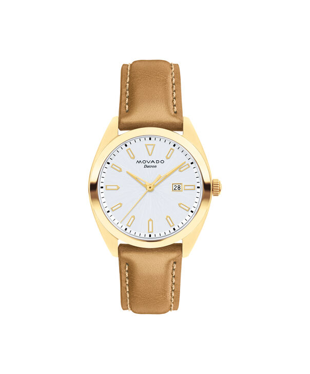 Movado | Movado Movado Heritage Series Women's yellow gold ion-plated stainless steel watch with brown leather strap