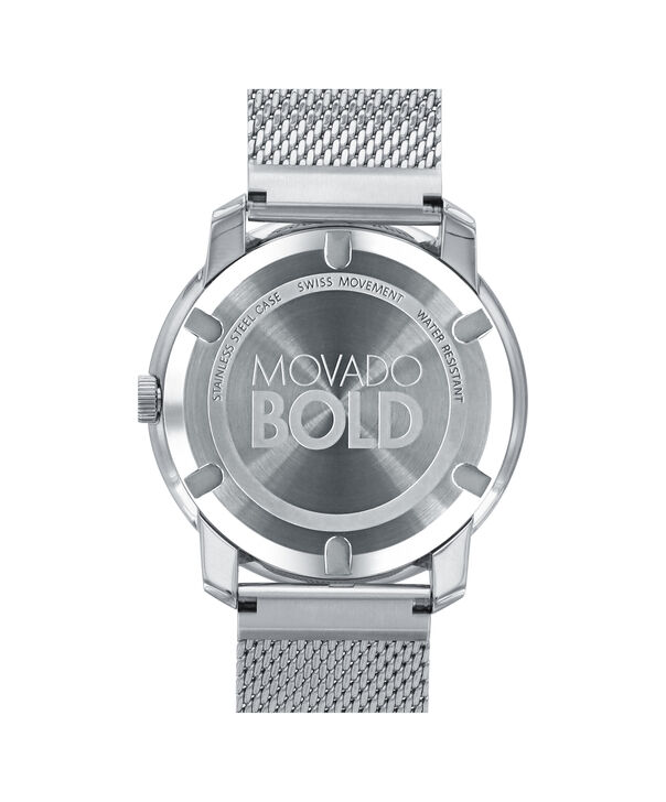 MOVADO Movado BOLD3600260 – 44 mm flat mesh bracelet watch - Back view