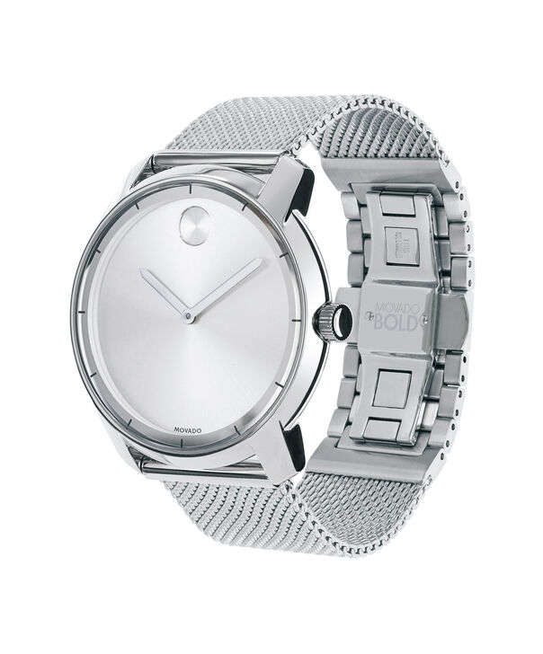MOVADO Movado BOLD3600260 – 44 mm flat mesh bracelet watch - Side view