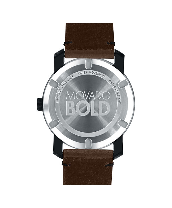 MOVADO Movado BOLD3600443 – 42mm Colorado leather strap watch - Back view