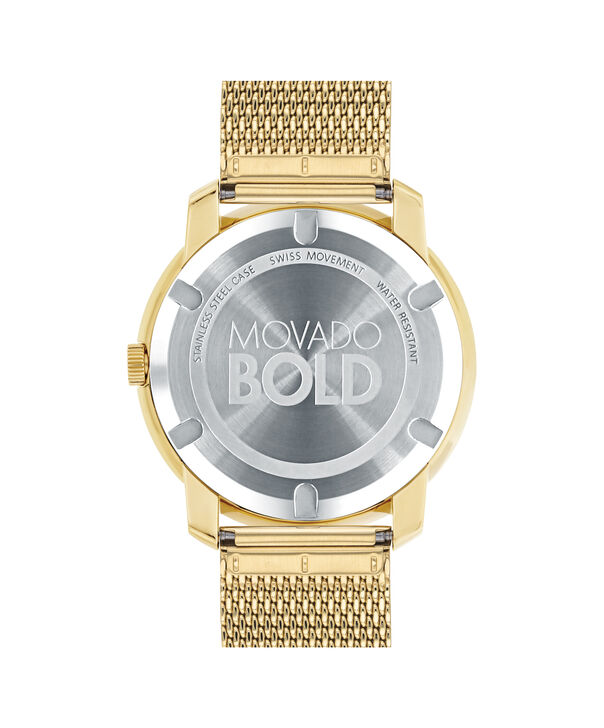MOVADO Movado BOLD3600373 – 44 mm flat mesh bracelet watch - Back view