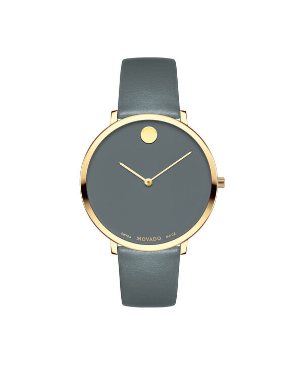 Movado | Movado Women's Large Yellow gold PVD-finished stainless steel watch with Grey dial