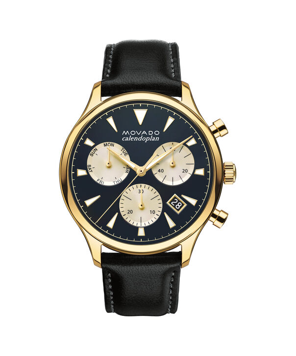 MOVADO Movado Heritage Series3650006 – Men's 43 mm strap chronograph - Front view