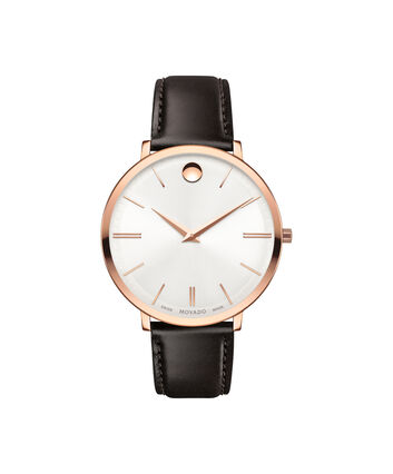 MOVADO Movado Ultra Slim0607093 – Mid-Size 35 mm strap watch - Front view