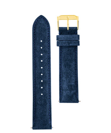 MOVADO Movado Watch Straps769300999 769301015 769301032 – Navy Suede w/ YG buckle - Front view
