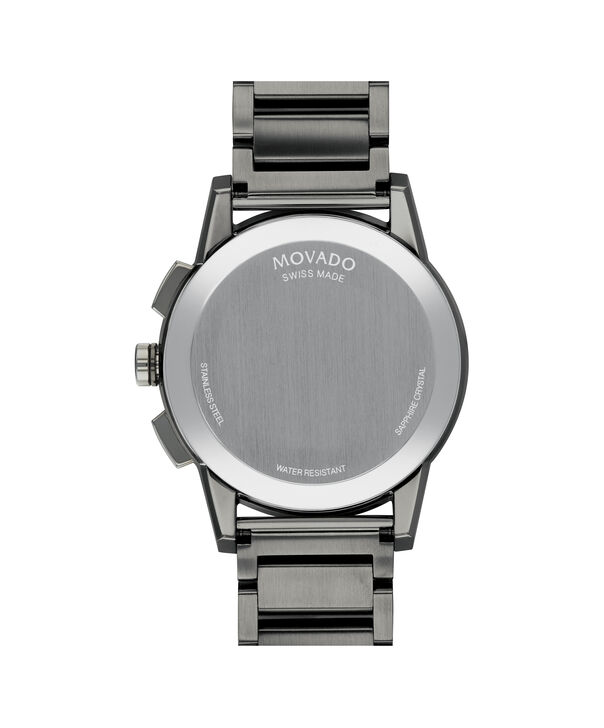 MOVADO Museum Sport0607291 – Men's 43 mm bracelet chronograph - Back view