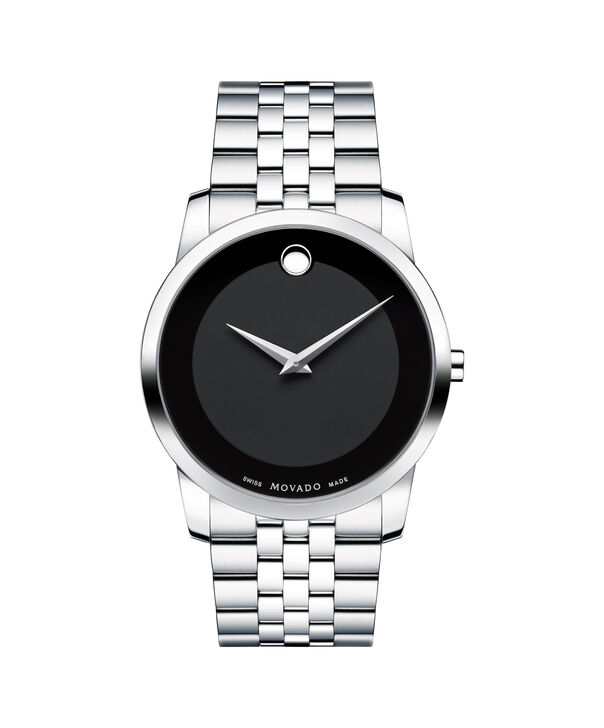 Movado | Museum Men's Stainless Steel Bracelet Watch With Black Dial