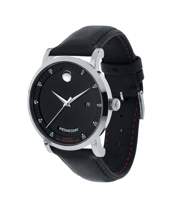 MOVADO Red Label0606845 – Men's 42 mm automatic day/date - Side view