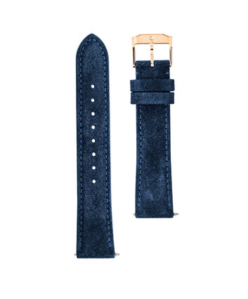 MOVADO Movado Watch Straps769301033 – 18mm navy blue suede/RG strap - Front view