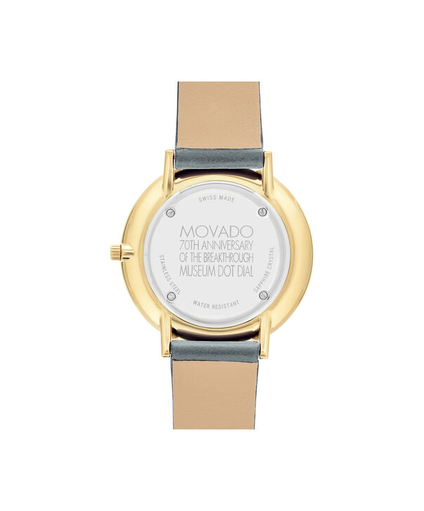 MOVADO 70th Anniversary0607140 – Mid-Size 35 mm strap watch - Back view