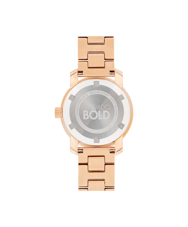 MOVADO Movado BOLD3600550 – 30 mm Metals bracelet watch - Back view