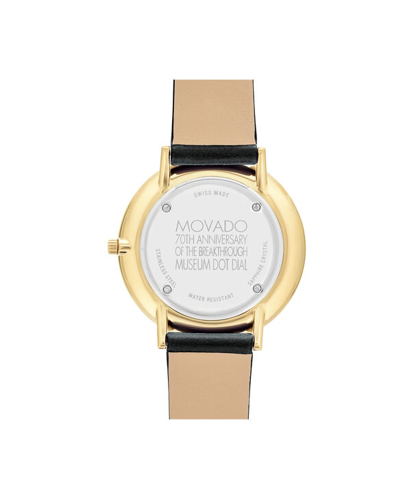 MOVADO 70th Anniversary0607137 – Mid-Size 35 mm strap watch - Back view