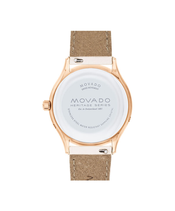 MOVADO Movado Heritage Series3650073 – Women's 36 mm strap watch - Back view