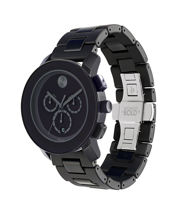 MOVADO Movado BOLD3600048 – 43.5 mm TR90 bracelet chronograph - Side view