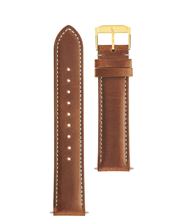 MOVADO Movado Watch Straps769300984 769301001 769300973 – Cognac Leather Strap w/ YG buckle - Front view