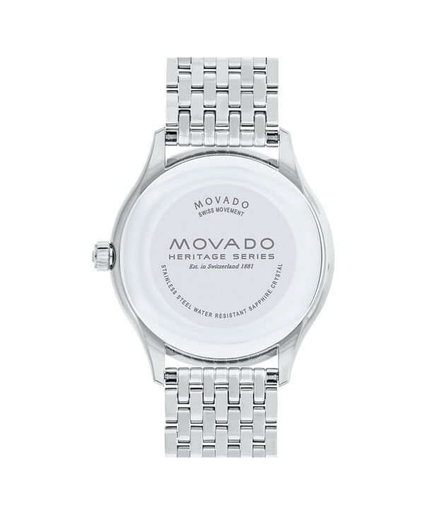 MOVADO Movado Heritage Series3650012 – Men's 40 mm bracelet watch - Back view