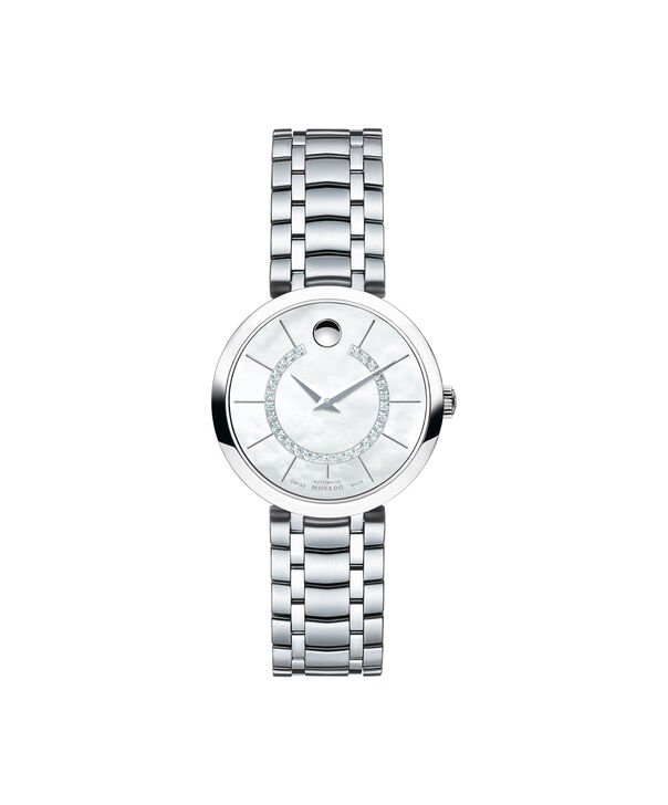 Movado | 1881 Automatic Stainless Steel Bracelet watch with silver and diamond dial