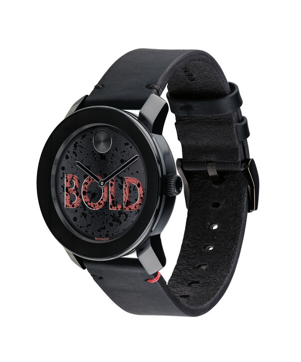 MOVADO Movado BOLD3600556 – 42 mm leather strap watch - Side view