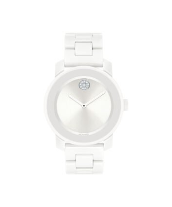 MOVADO Movado BOLD3600534 – 36 mm ceramic bracelet watch - Front view