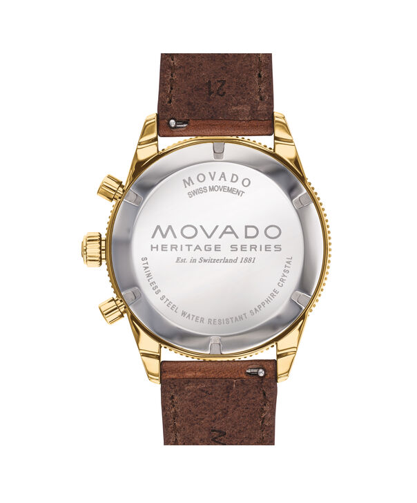 MOVADO Movado Heritage Series3650062 – 42 mm strap chronograph - Back view