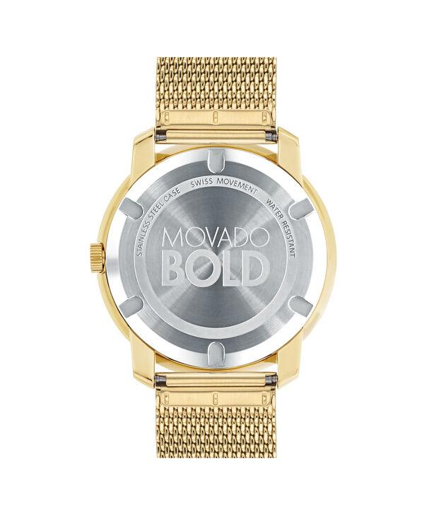 MOVADO Movado BOLD3600373 – 44 mm flat mesh bracelet watch - Back view