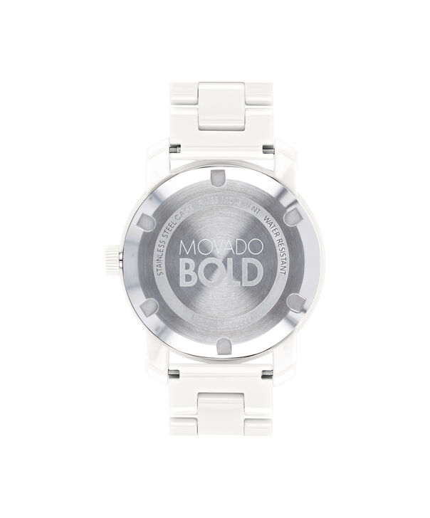 MOVADO Movado BOLD3600534 – 36 mm ceramic bracelet watch - Back view