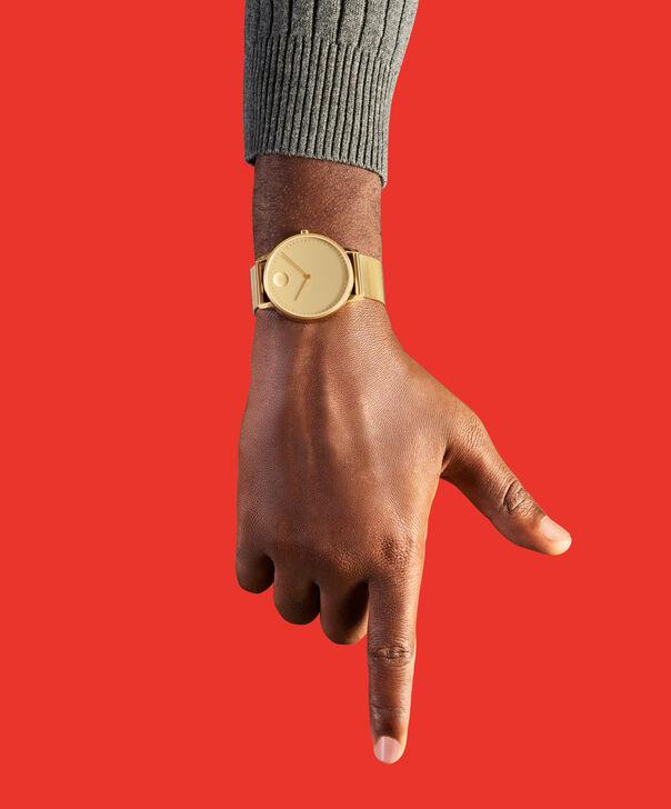 MOVADO Movado Face3640007 – Men's 41 mm bracelet watch - Back view