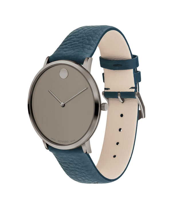 MOVADO Modern 470607332 – 40 mm Modern 47 on Textured Strap - Side view