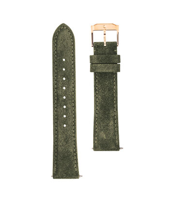 MOVADO Movado Watch Straps769301030 – 18mm army green suede/RG strap - Front view
