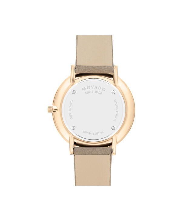 MOVADO Modern 470607346 – 35 mm Modern 47 on Strap - Back view