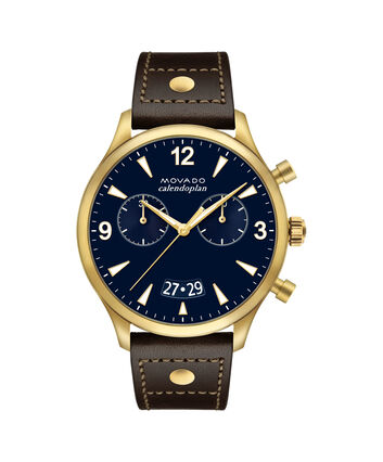 MOVADO Movado Heritage Series3650030 – 45 mm strap chronograph - Front view
