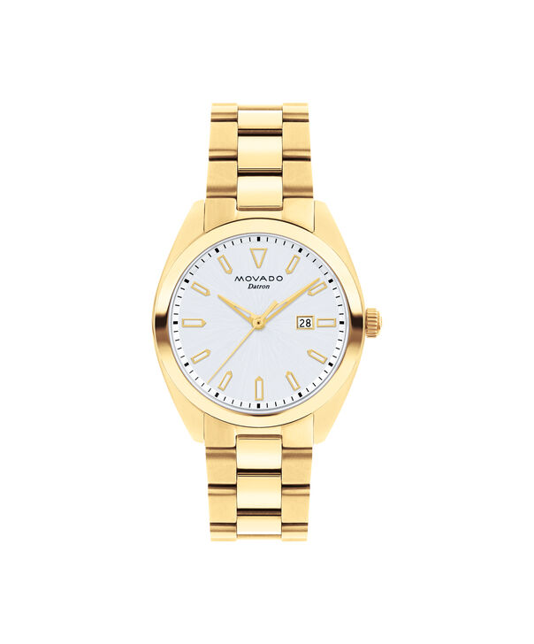 Movado | Movado Movado Heritage Series Women's yellow gold ion-plated stainless steel watch with silver dial
