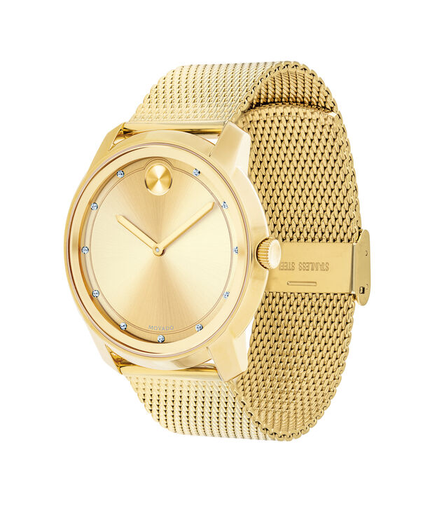 MOVADO Movado BOLD3600460 – 44mm flat mesh bracelet watch - Side view