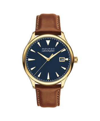 MOVADO Movado Heritage Series3650028 – Men's 40 mm strap watch - Front view