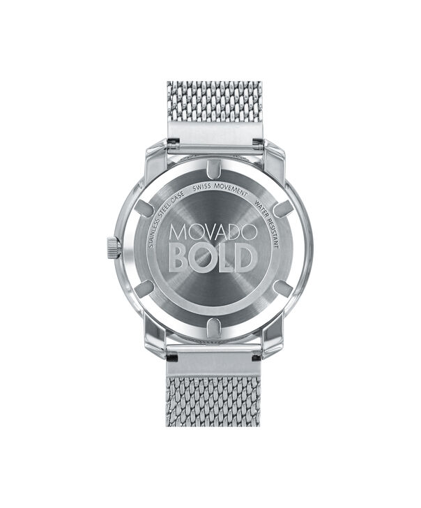 MOVADO Movado BOLD3600241 – 36 mm flat mesh bracelet watch - Back view