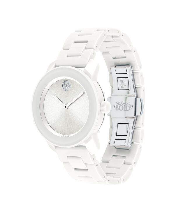 MOVADO Movado BOLD3600534 – 36 mm ceramic bracelet watch - Side view