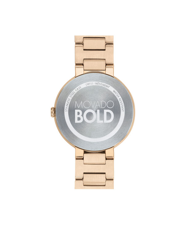 MOVADO Movado BOLD3600569 – 34 mm Metals bracelet watch - Back view