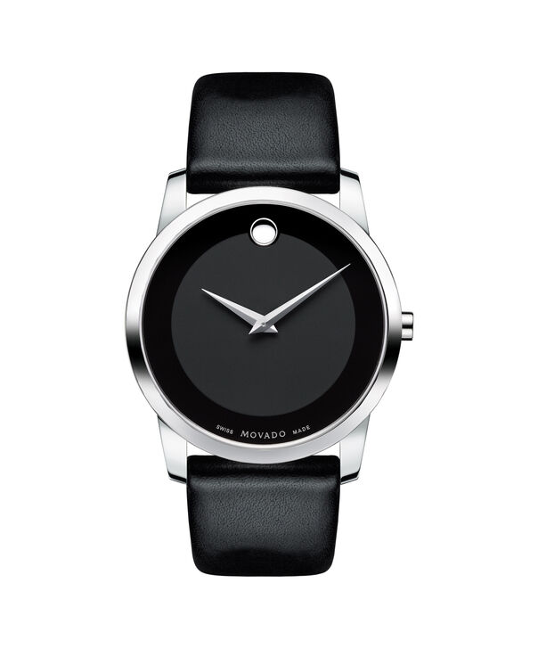 Movado | Museum Men's Stainless Steel Watch With Black Strap
