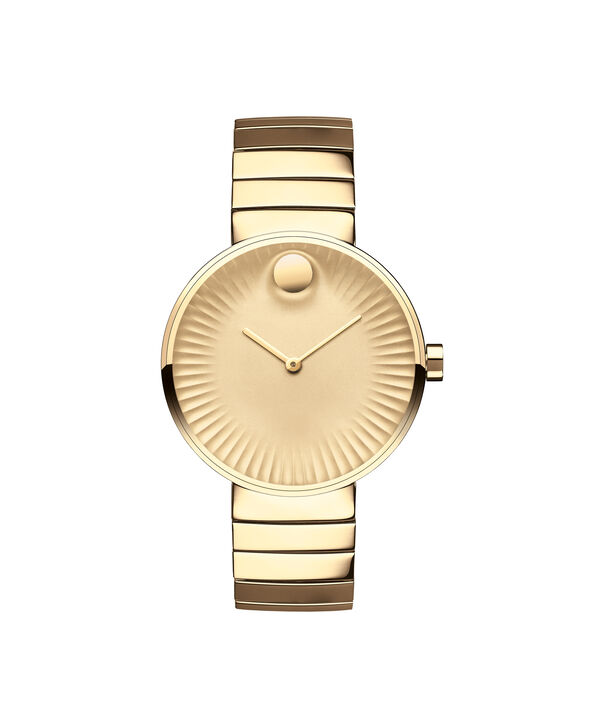 Movado | Movado Edge wommen's mid-size yellow gold PVD-finished stainless steel watch with gold-toned dial