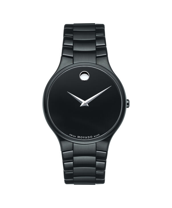 Movado | Serio Men's Black PVD-finished Stainless Steel Bracelet Watch